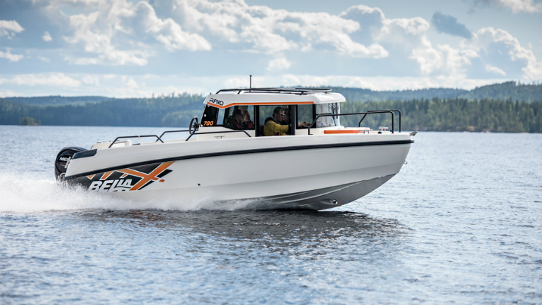 Bella Boats produces four ranges of boats: Bella, Flipper, Aquador and Falcon.