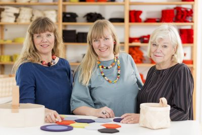 Verso Design is strongly a family company, founded by a mother-daughter duo and more family members joining later. From left: Tuttu Sillanpää, Tuuli Burman and Kirsikka Savonen.