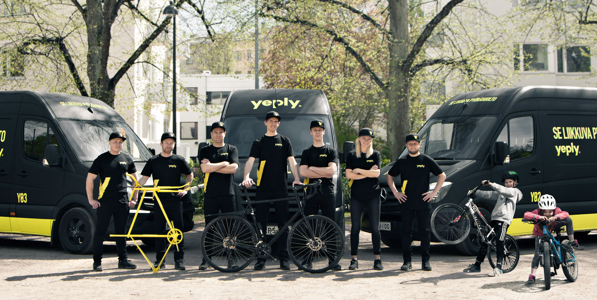 In a model inspired by ice cream trucks, Yeply's mobile bike repair shops drive around different neighbourhoods and serve business and consumer customers.