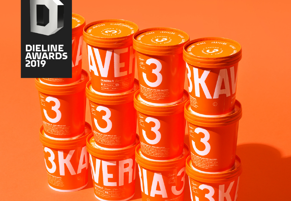 Finnish ice cream company 3 Friends has been awarded at The Dieline Awards 2019 that recognises the best in consumer product packaging globally. 3 Friends ice cream packaging came second in the Dairy category at the awards organised by leading media brand for packaging design, Dieline. Previous winners include such well-known names as Coca Cola, Pepsi and Google, as well as Finnish brands Kyrö Distillery Company and Karhu.