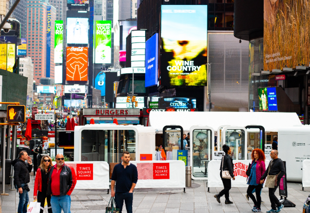 Framery is bringing peace of mind to Times Square in a collaboration with NYCxDESIGN. (Photo: Framery)