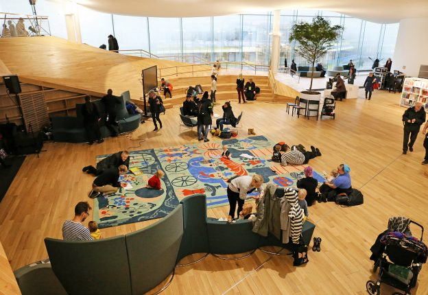 Helsinki's médiathèque Oodi has been shortlisted for the Public Library of the Year Award. (Photo: Risto Rimppi)