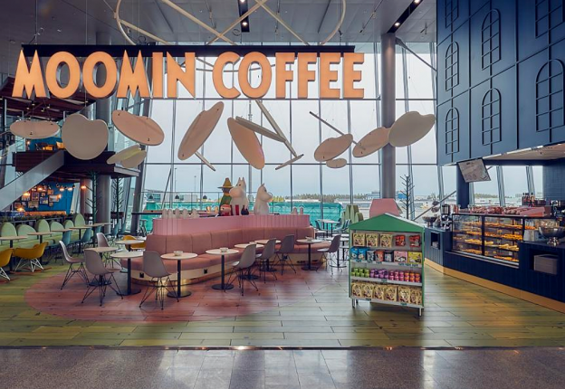A new Moomin Cafe has popped up at Helsinki Airport's new premises. (Photo: Finavia)