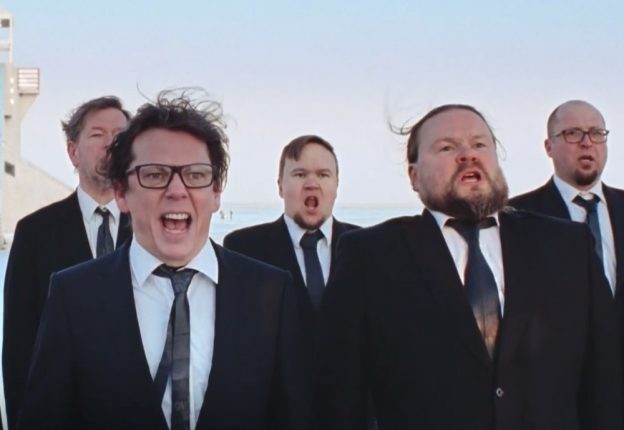 Finnish performance group Mieskuoro Huutajat give a shout-out to sensitive men in Philips' new commercial. (Photo: Screenshot/YouTube)