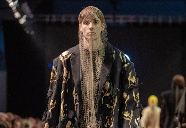 Aalto University MA student Ines Kalliala has gathered attention with her menswear collection at Näytös19. (Photo: Guillaume Roujas)