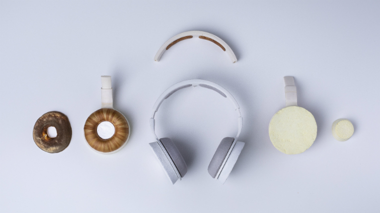 A Finnish team of researchers, designers and documentarians have developed a set of headphones made from biomaterials such as fungus and cellulose.