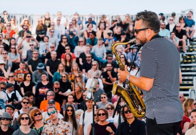 The new album from Timo Lassy (pictured) and Teppo Mäkynen is a courageous sketchpad and moodboard, according to Jazz Journal. (Photo: Konstantin Kondrukhov / Flow Festival)