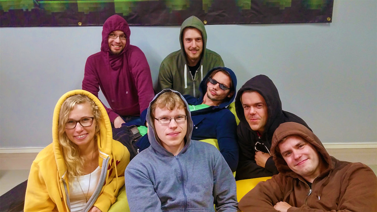 TeacherGaming's CEO Santeri Koivisto (in black hoodie) first came up with the idea of using the Minecraft computer game as an educational tool while he was still a student teacher.