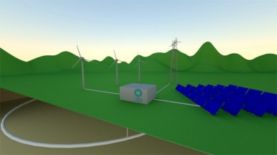 Teraloop's technology allows for kinetic energy to be stored safely underground and out of sight.