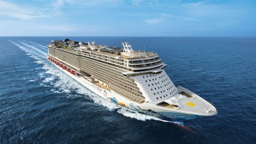 KONE delivers 32 elevators and two escalators to Norwegian Cruise Line's Breakaway Plus-class cruise ship.