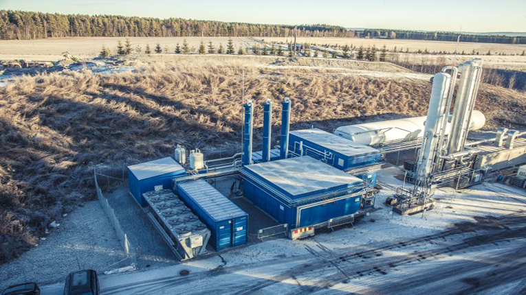 Wärtsilä's biogas liquefaction plant located near Oslo in Norway. The new plant will be built at the paper mill in Skogn, Norway.