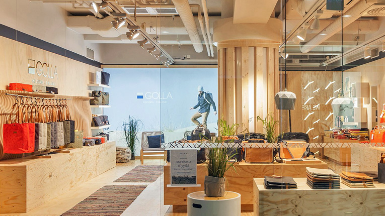 Golla is using a pop-up store in downtown Helsinki to test a lifestyle concept that it intends to take to the global markets.