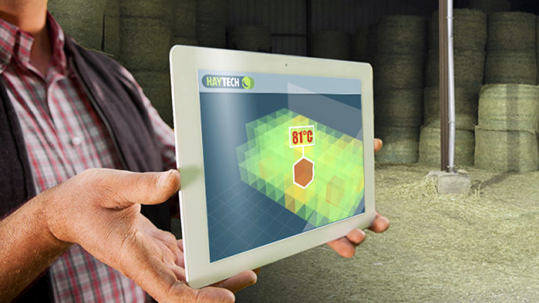 The sensors made by Haytech would measure the temperature and other qualities of each barn in order to predict if a barn is likely to start burning.
