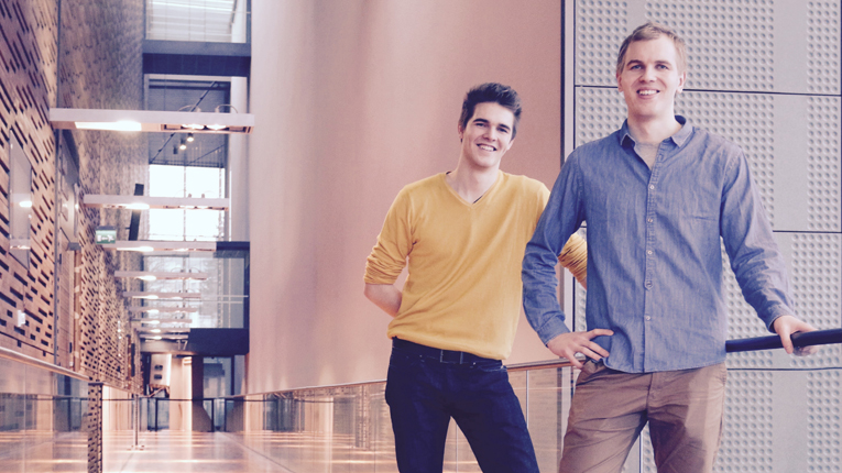 Perttu Pölönen (left) and his brother Pietu Pölönen (right) wanted to make a new way to teach and learn music. That's how Musiclock saw daylight.
