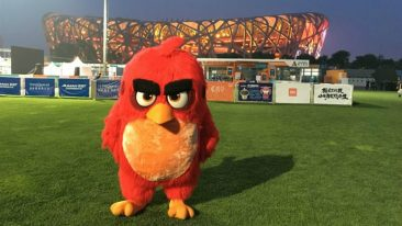 Rovio has marked the imminent arrival of Angry Birds on the silver screen and e-commerce in China by depicting lead character Red in front of the iconic Beijing National Stadium.