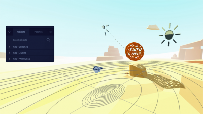 Vizor enables users to easily create their own VR experiences with a web browser.
