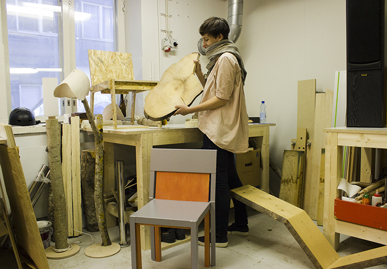 Sanelma Hihnala, a recent furniture design graduate from Aalto University, says that during studies the students were nearly forbade to use plastic based on eco-friendliness.