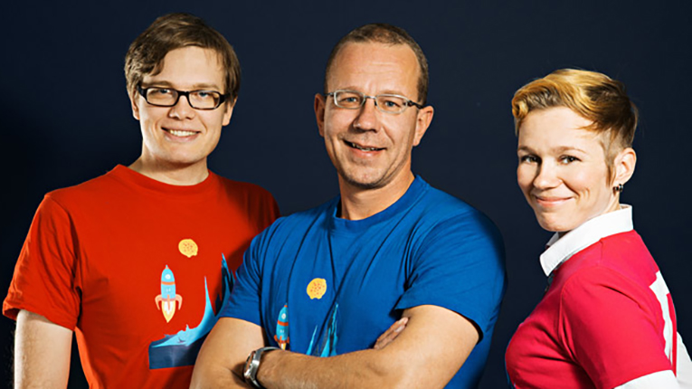 Neogames' mission is to accelerate, coordinate, and support the development of the Finnish game cluster. Neogames team pictured from left to right: J-P Kaleva, Koopee Hiltunen and Suvi Latva.
