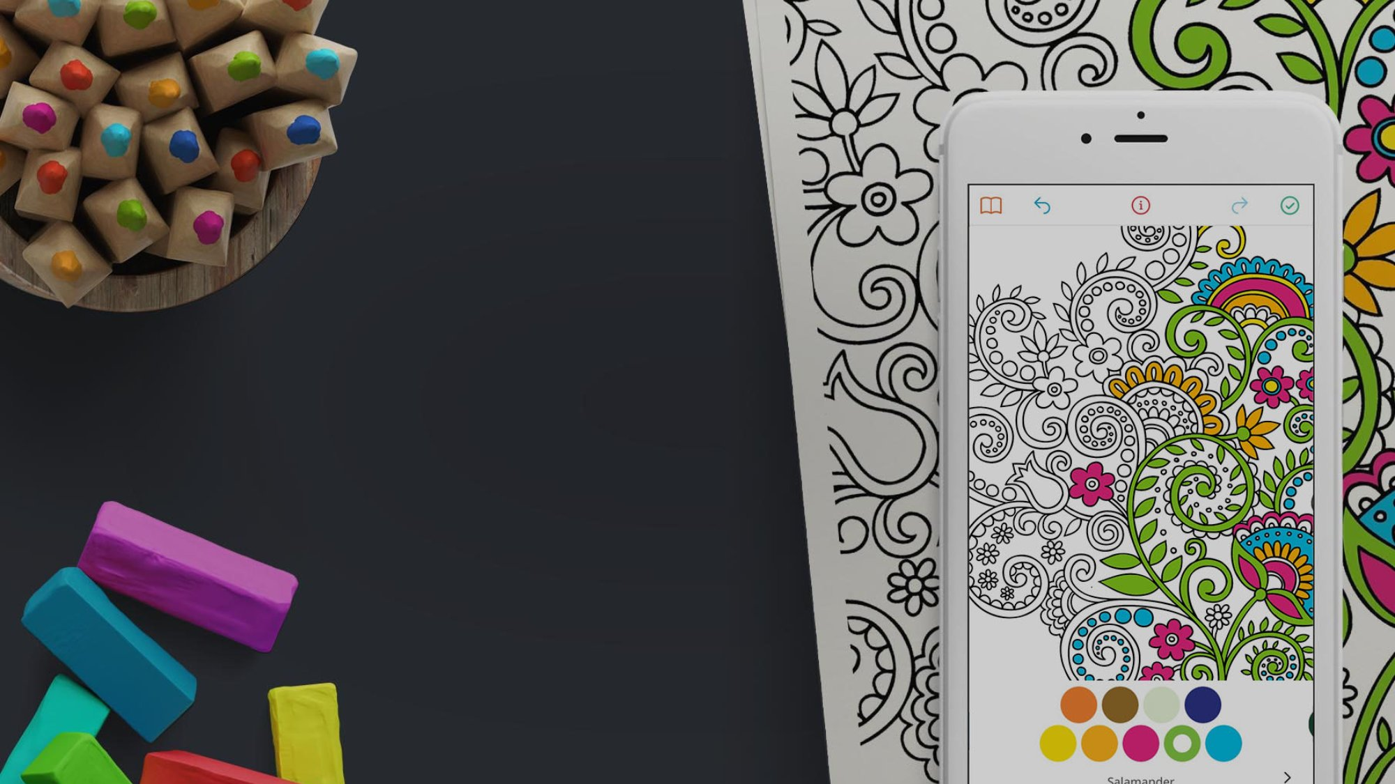 Finnish colouring book app Recolor has gathered over six million downloads. A major boost came in the spring when the app was included in Apple's charitable campaign raising money for WWF.
