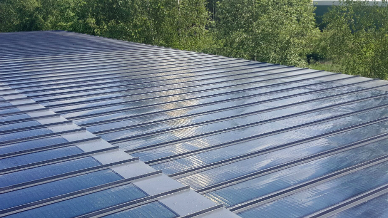 With its thin and flexible composition, Virte Solar's solution is almost unnoticeable on rooftops.