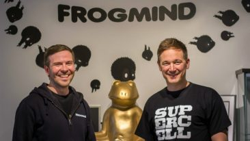 The two CEOs, Johannes Vuorinen from Frogmind (left) and Ilkka Paananen from Supercell, have joined forces for the good of the gaming industry.