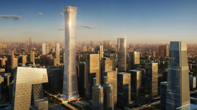 Once completed the skyscraper is set to be Beijing's tallest building.