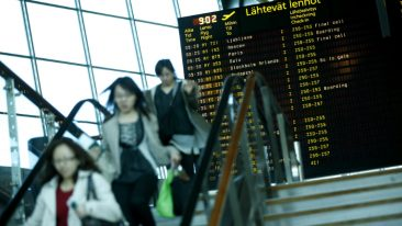 The number of Chinese tourists is on the rise at Helsinki Airport.