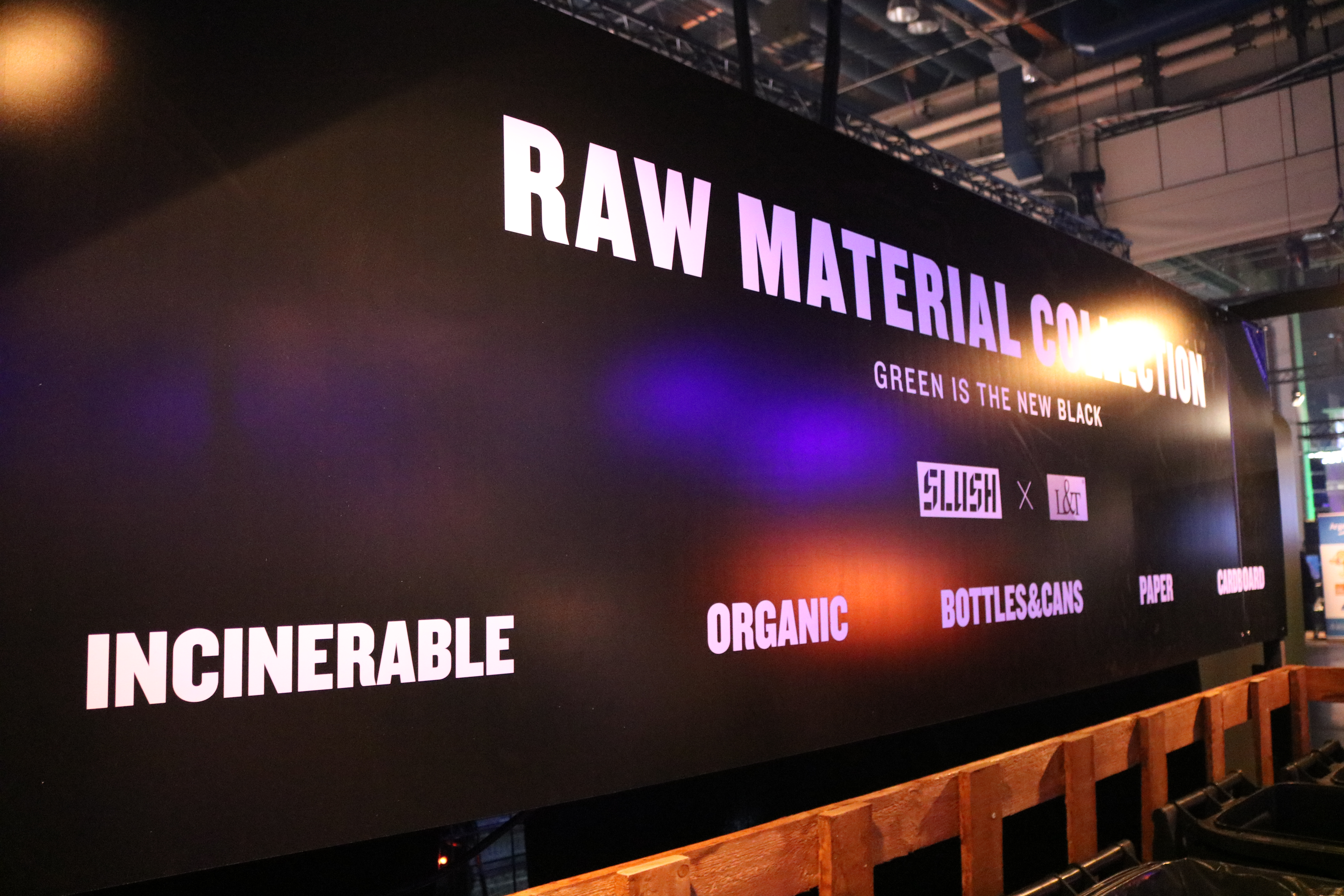 At Slush, there's no waste, just raw material for further use.