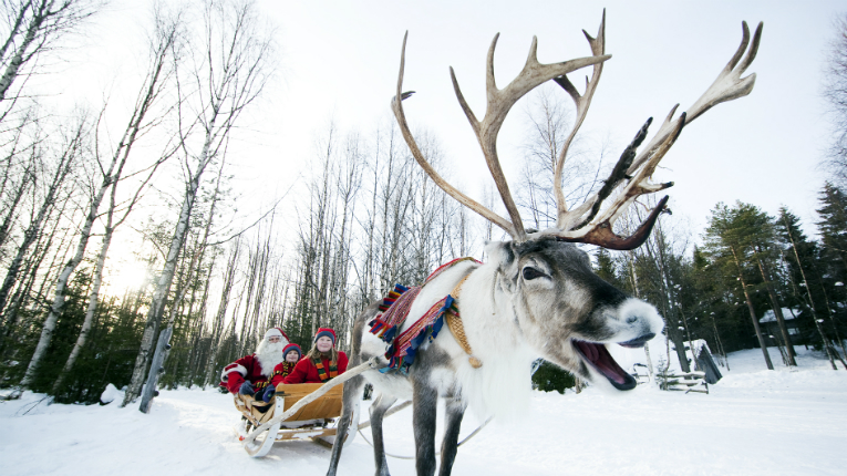 The Swiss media and tourism industry visitors get to meet Santa himself.