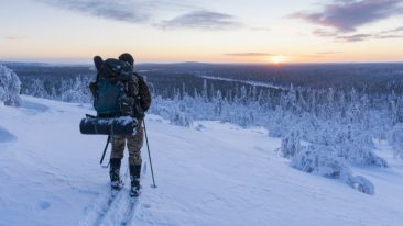 Finland was one of six countries recognised in the list's nature category. Pictured is one of the popular ways to enjoy UKK National Park in Sodankylä.