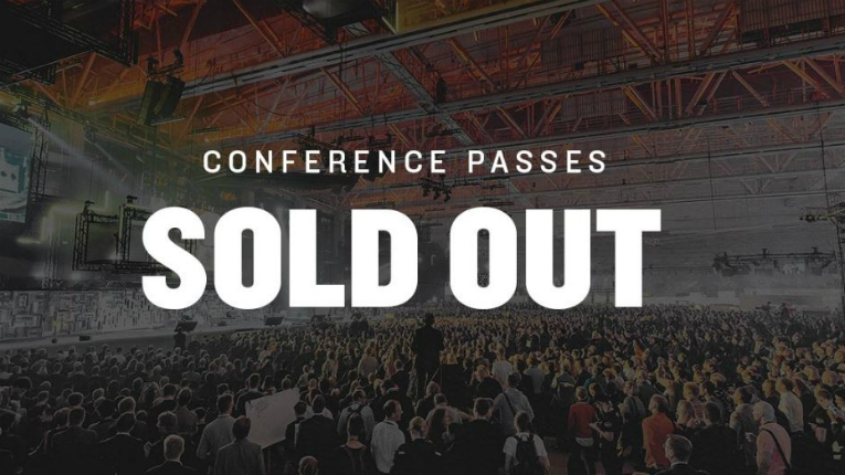 Conference passes were sold out just under a week before the event begins.