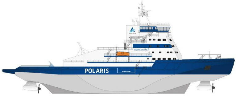 Polaris, the world's first LNG powered icebreaker, has been designed and constructed entirely in Finland.