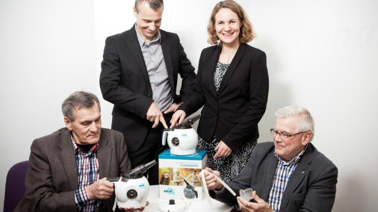 Hapella believes WellO2 will be ready for international markets in 2017. Pictured (from left): founder Aulis Kärkkäinen, CEO Ilpo Kuronen, sales manager Virpi Parviainen and co-owner Jorma J. Takanen.