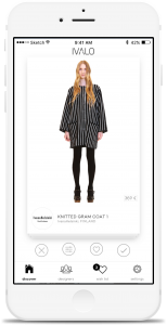 Ivalo is a mobile marketplace for up-and-coming fashion brands with a Tinder-like user interface. Swipe right to buy a product, left to see more.