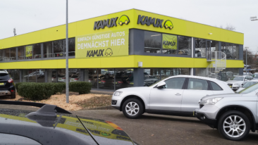 The new Kamux used car dealership in Hamburg is well placed at the core of Europe's biggest car market.