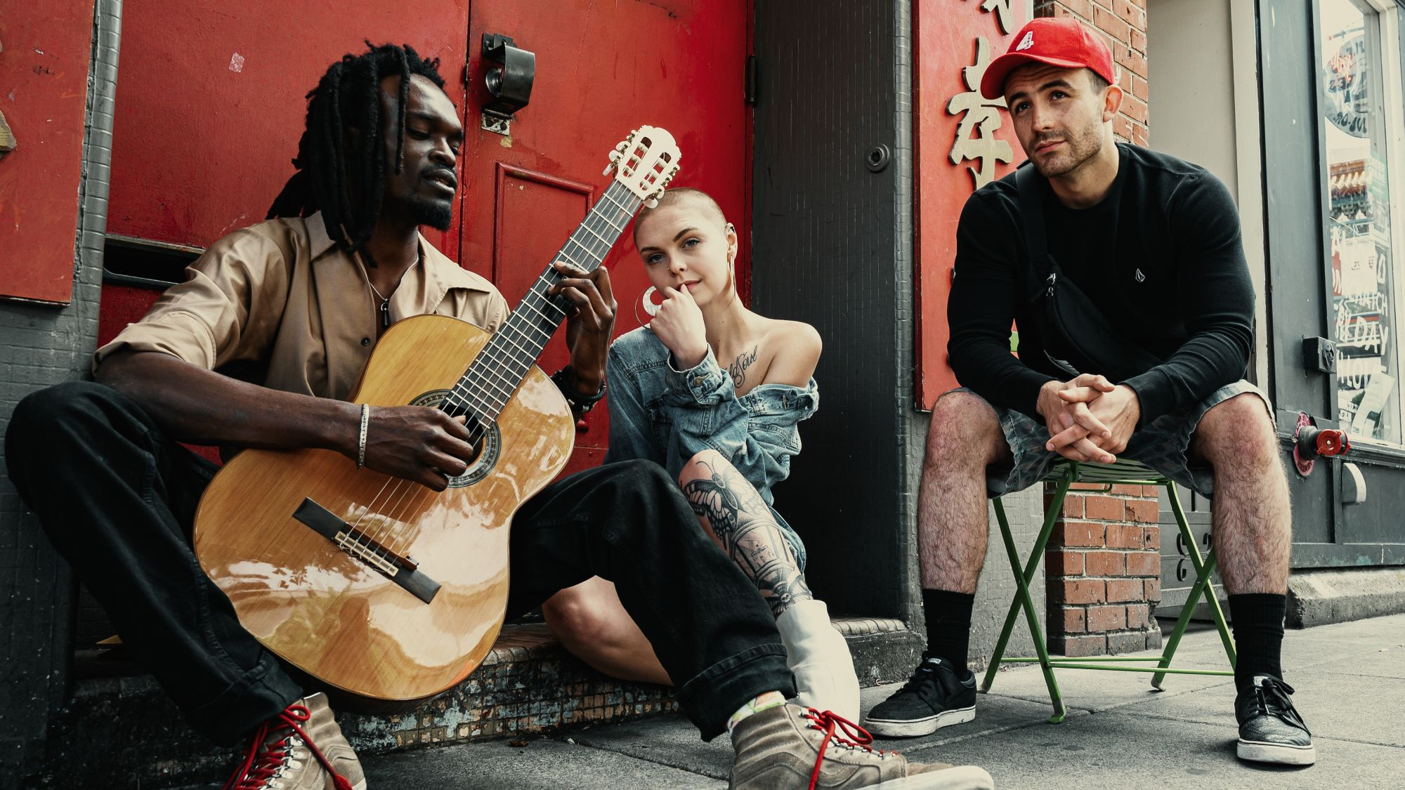 An urban music trio