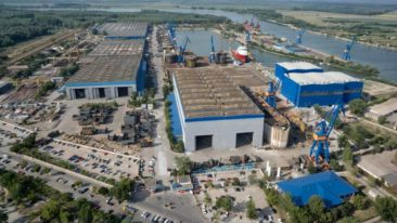The delivery to Vard Tulcea Shipyard is an advanced 12m thin plate panel line.