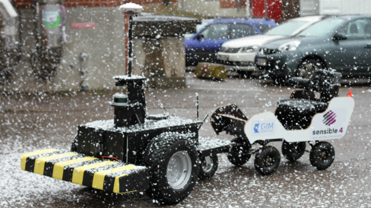 In March, Sensible 4 demonstrated the winter driving skills of its 'automation-in-a-box' technology, with a self-driving buggy and a snow cannon.