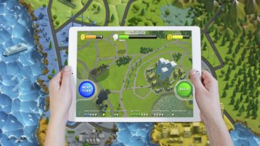 The player of EduCycle have to make decisions concerning energy, food and traffic and see the environmental outcomes in a virtual city brought about with a physical map board, 3D printed markers, a mobile app and an iPad.
