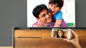 Tellybean has made video chats more accessible and 'as large as life', by putting those nearest and dearest on the old, familiar TV screen.
