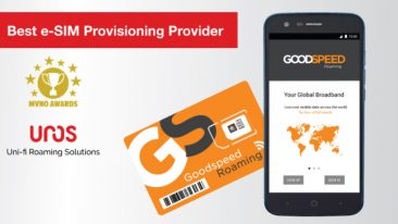 Goodspeed Roaming consists of a smartphone, Goodspeed Roaming mobile app and Goodspeed Roaming e-SIM card.