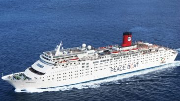 """Peace Boat director and founder Yoshioka Tatsuya believes the Ecoship will be """"a game changer for the shipping industry""""."""
