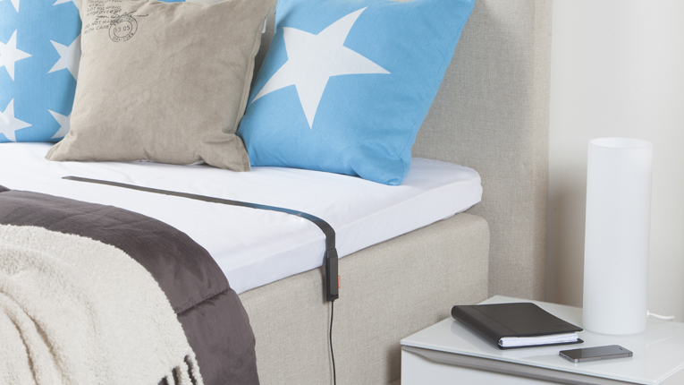 Beddit uses an ultra-thin sensor, which pairs with an accompanying mobile app to automatically provide data on heart rate, movement, breathing and even snoring.