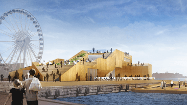 One of Lehto's most prominent recent projects is the AllasSeaPool in Helsinki.