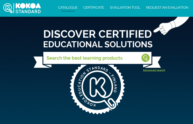 Kokoa's quality verification method is based on pedagogical research regarding how we learn. All evaluations are done by Finnish teachers and digital education specialists.