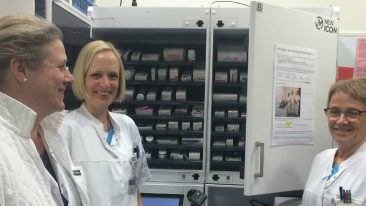 The smart medicine cabinet enables automatic, real-time overview of the volumes, conditions and expirations of medicines, while minimising the risk of individual error or misuse.
