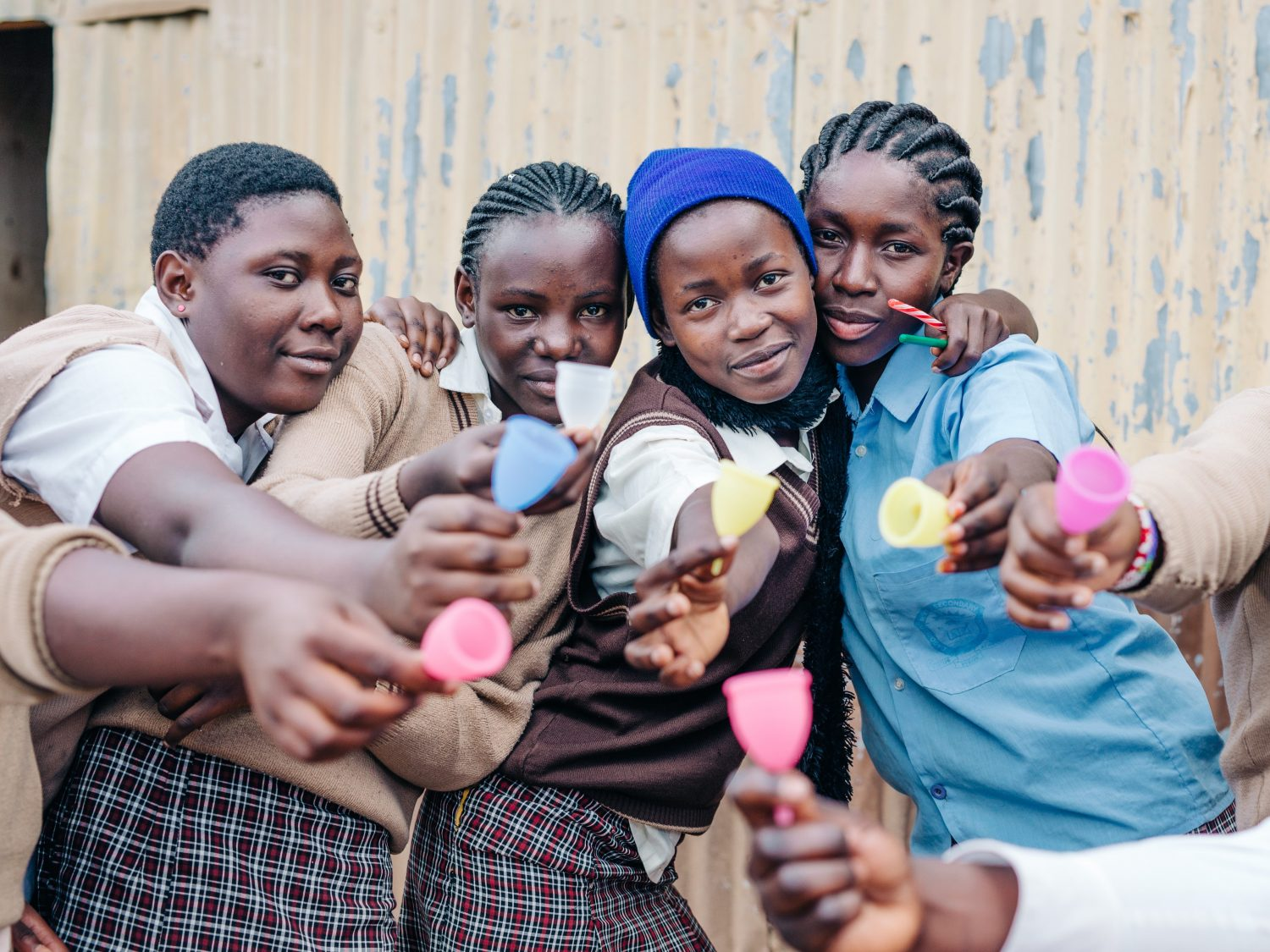 Lune Group has worked with women in developing countries, including these Kenyan ladies.