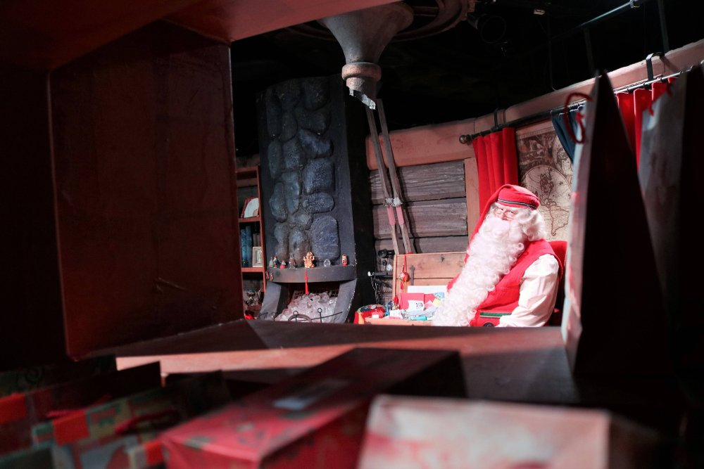 Santa Claus at his home office in Rovaniemi