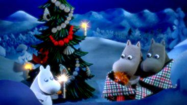 In the winter saga, Moomintroll decides not to hibernate and instead explores the winter and prepares for the mysterious guest called Christmas.