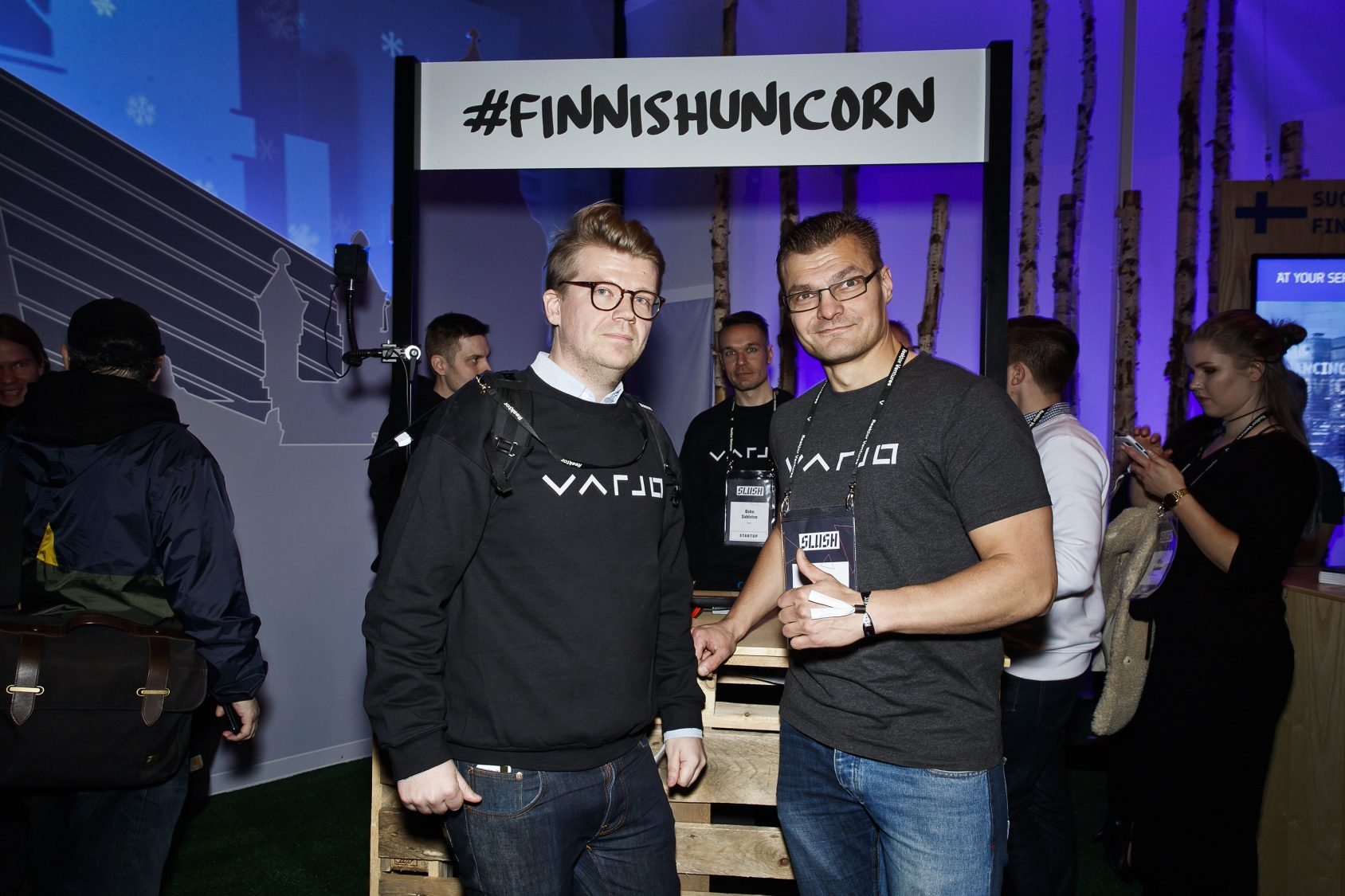 """Varjo CMO Jussi Mäkinen kept his cool under pretty extreme circumstances: dealing with the two princes. """"This technology is the best in the world, so it deserves the best possible start,"""" Mäkinen says."""